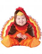Süsses Truthahn-Babykostümorange-braun-rot
