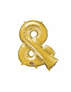 Folienluftballon Symbol & gold