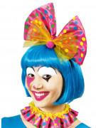 Schleife Haarreif und Kragen Clown-Set gepunktet bunt
