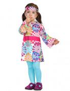 Hippie Kleid Kostüm für Kleinkinder bunt