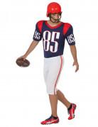 Rugby-Spieler Kostüm Sportler blau-weiss