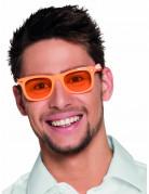 Spaß Partybrille für Erwachsene orange