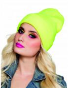 Mütze Wintermütze für Erwachsene neongelb