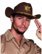 Cowboy Hut Sheriff für Erwachsene braun-gold