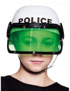 Polizei Helm Kostümzubehör für Kinder weiss-schwarz