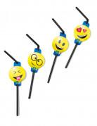 Strohhalme Gesichter Party-Gadget 8 Stück bunt