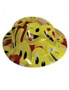 Melone Partyhut Lizenzartikel Emoji gelb-rot