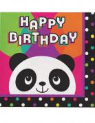 12 Papierservietten kleiner Panda 33 x 33 cm
