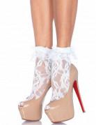 Rüschen-Socken aus Spitze weiss