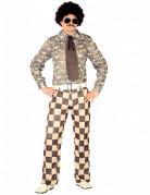 Disco-Kostüm für Herren braun-beige