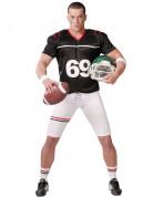 American Football Herren-Kostüm schwarz-weiss