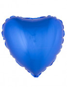 Herzförmiger Folienballon blau
