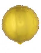 Folienballon rund 45 cm - goldfarben