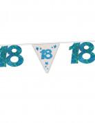 Glitzernde Girlande 18. Geburtstag blau