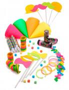 Party-Deko-Set für 8 Personen neon