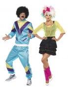 80er Jahre Paarkostüm Karneval bunt