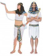 Pharao-Paarkostüm Ägypten Karneval weiss-blau-gold