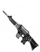 Aufblasbares Maschinengewehr schwarz-weiss 90cm