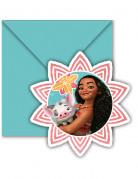 Vaiana Disney Einladungskarten 6 Stück bunt
