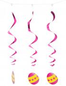 Ostereier-Spiralen Oster-Deko 3 Stück pink-gelb 60cm