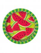 Wassermelonen-Teller Sommerparty-Tischdeko 8 Stück grün-rot 22cm