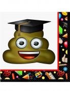 Emoji Servietten Party-Deko 16 Stück schwarz-weiss-bunt 33x33 cm