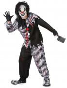 Horrorclown-Kostüm Psychoclown schwarz-weiss