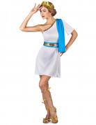 Griechische Kaiserin Damenkostüm weiss-gold-blau