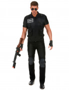 Originelles SWAT Herrenkostüm schwarz