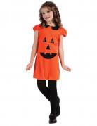 Kürbislaterne-Kinderkostüm Halloweenkostüm orange-schwarz