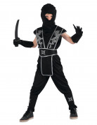 Ninja Jungenkostüm Krieger schwarz-silber