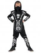 Totenkopf Ninja Jungen-Kostüm schwarz-weiß