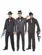 Gangster Gruppenkostüm für Herren schwarz-grau-weiss