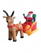 Aufblasbarer Weihnachtsmann mit Schlitten 180 cm