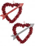 Herz mit St. Valentins Pfeil rot 27x33cm