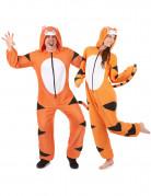 Süsses Tiger Paarkostüm orange schwarz weiss