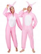Hasen-Paarkostüm für Erwachsene rosa-weiss