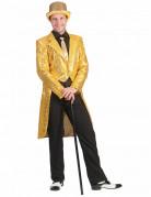 Herren Pailletten Frack - gold