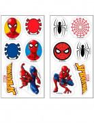 Mini-Oblaten Spiderman aus Zucker ™ 3.4 cm 12 Stück