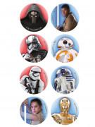 Star Wars™ Mini-Zuckerscheiben Kuchendeko Lizenzware 16 Stück bunt 3,4cm