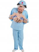 Arzt mit Baby Carry-Me-Kostüm blau