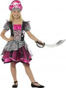 Piraten-Mädchenkostüm rosa