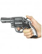 Spielzeug-Pistole in Comic-Optik grau