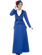 Viktorianisches Kindermädchen Hauslehrerin-Kostüm blau