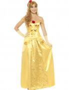 Langes Prinzessinnenkleid für Damen gelb