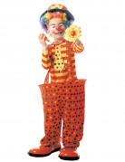 Clownskostüm mit Reifen für Kinder orange-gelb