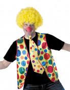 Clown-Weste für Erwachsene gelb-bunt