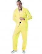 Herren-Anzug neongelb