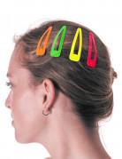 Regenbogen Haar-Spangen 4 Stück bunt