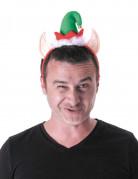 Accessoire Haarreif Weihnachtswichtel rot-grün-weiß